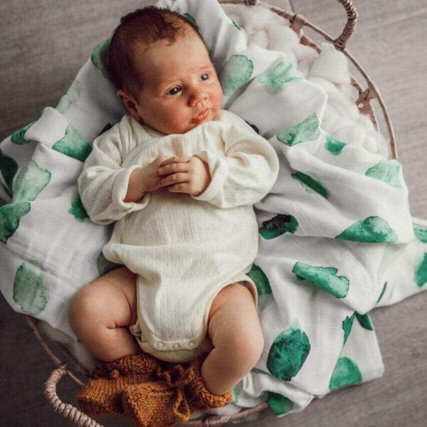 Snuggle Hunny Kids, Organic Muslin Wrap The Wholesome Gift Box