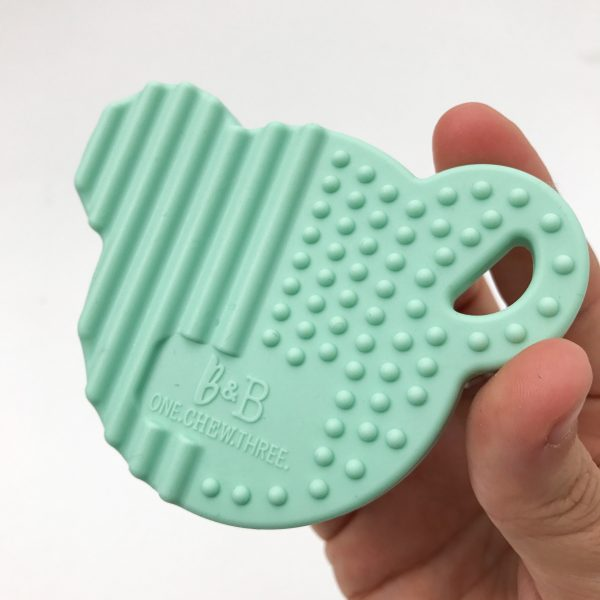 one. new. three. silicone teething disc